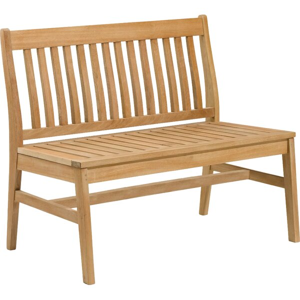 Laney Teak Garden Bench by Breakwater Bay