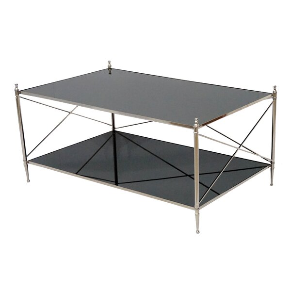 Mclane Cross Legs Coffee Table With Storage By House Of Hampton