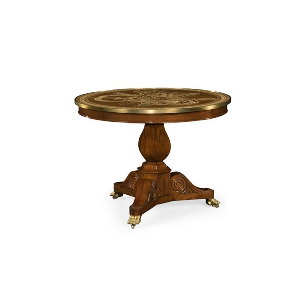Churchman Marquetry Right Hall Tilted Solid Wood Dining Table by Jonathan Charles Fine Furniture