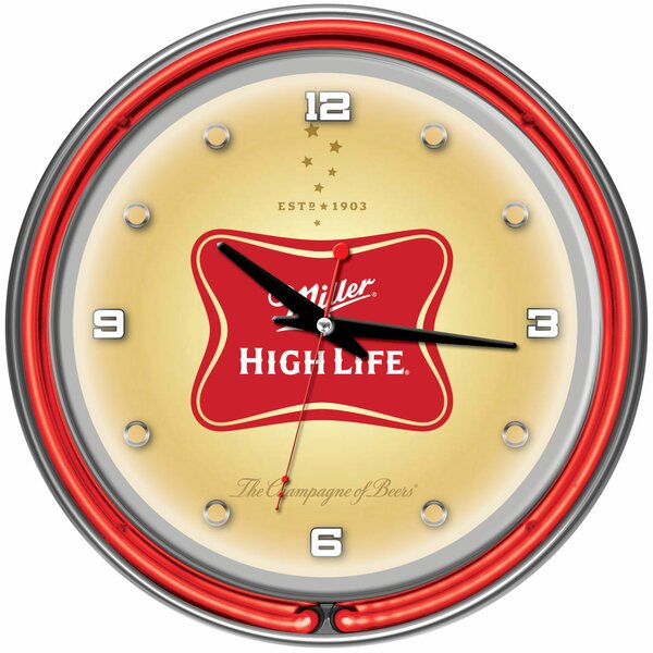14 Miller High Lite Neon Wall Clock by Trademark Global