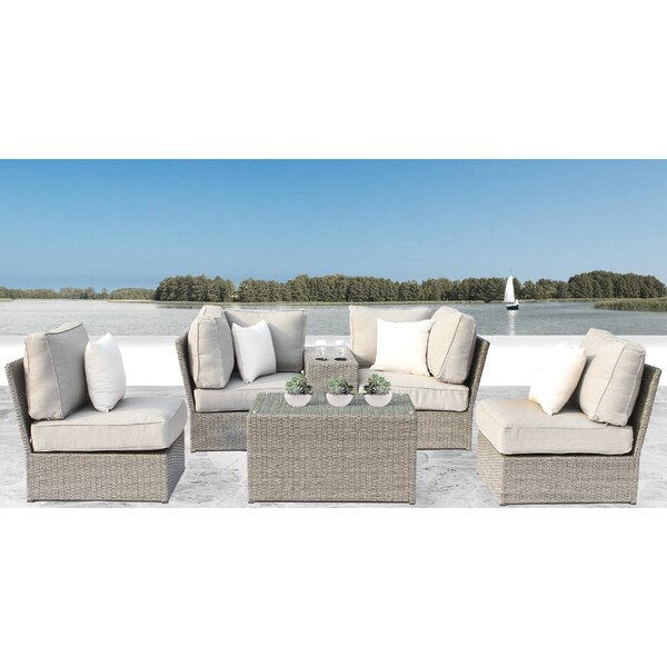 Winsford 6 Piece Sectional Set with Cushions by Rosecliff Heights