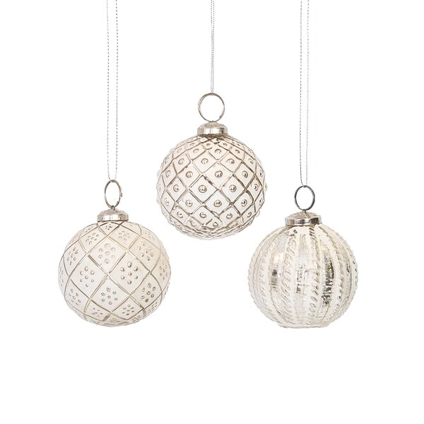 Glass Ornament Assortment Set (Set of 6) by Lark Manor