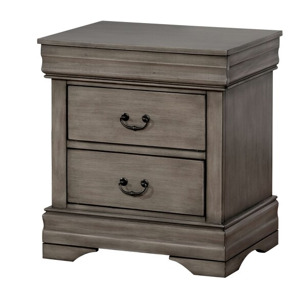 Hinrichs Transitional 2 Drawer Nightstand by Charlton Home