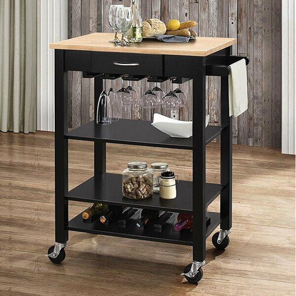 Furness Wheeled Kitchen Cart by Ebern Designs