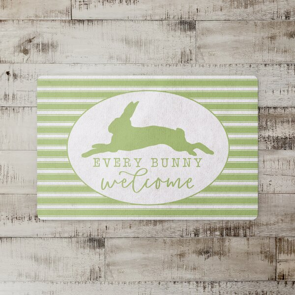Holly Springs Every Bunny Welcome Kitchen Mat