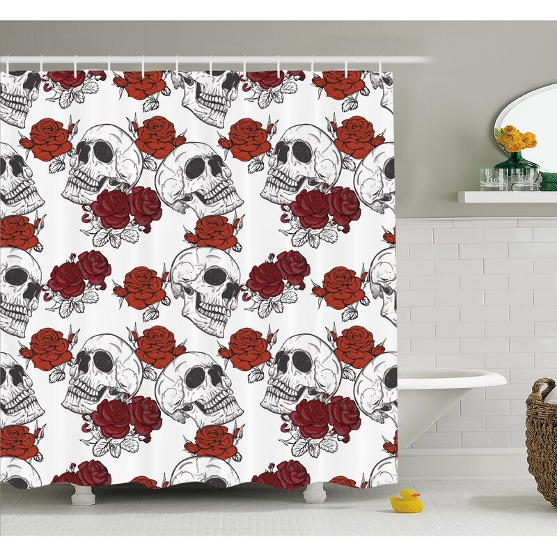 """Happy Halloween Background Old Witch Dead Trees Fabric Shower Curtain Set 72x72/"""""""