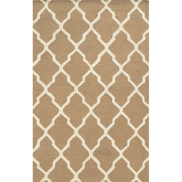 Gioia Hand-Tufted Beige Area Rug by Meridian Rugmakers