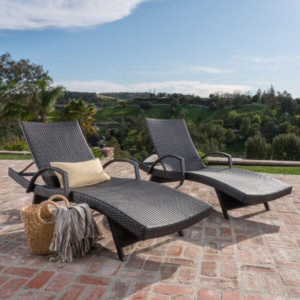 Peyton Adjustable Wicker Chaise Lounge (Set of 2) by Darby Home Co