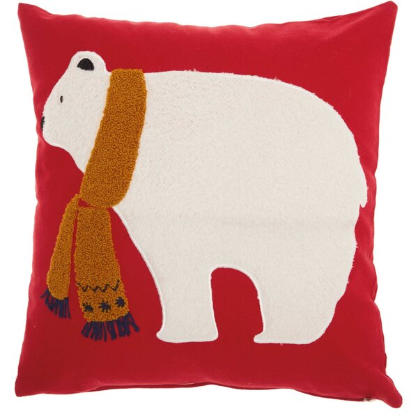 Leboeuf Polar Bear Cotton Throw Pillow by The Holiday Aisle