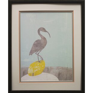 Heron Collage Framed Graphic Art Print On Paper