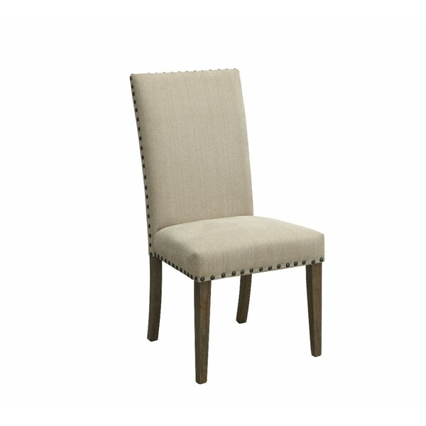 Voorhies Transitional Wooden Upholstered Dining Chair (Set of 2) by Ophelia & Co.