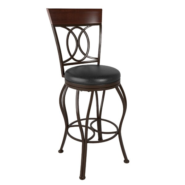 Mekhail Swivel Bar Stool by Red Barrel Studio
