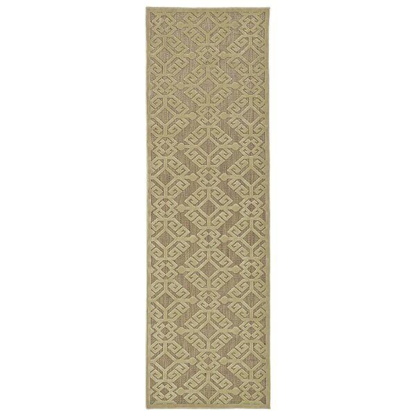 Covedale Machine woven Khaki Indoor/Outdoor Area Rug by Charlton Home