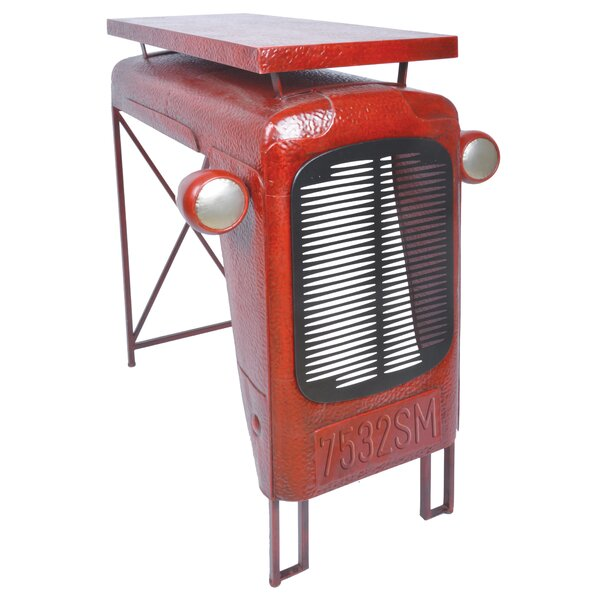 Edith Tractor Iron Bar Table by Williston Forge