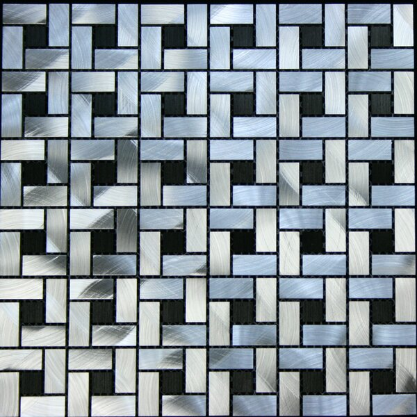 Random Sized Aluminum Metal Tile in Silver / Black