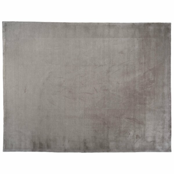 One-of-a-Kind Hand-Knotted Charcoal 9'10 x 13'8 Wool Area Rug