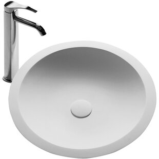Reviews Schreyer True Solid Surface Circular Vessel Bathroom Sink with Faucet BydCOR design