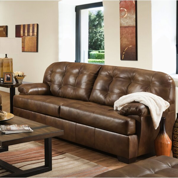 New Collection Thy Leather Sofa by Red Barrel Studio by Red Barrel Studio