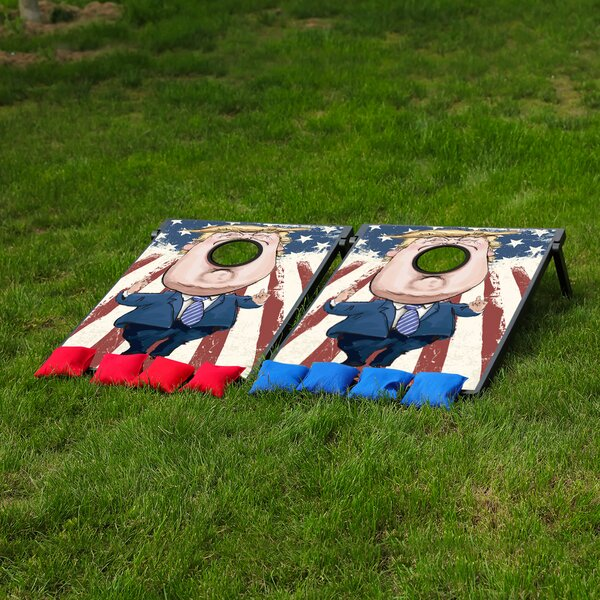 Donald Trump Bean Bag Toss Game and Tic Tac Toe Cornhole by Festival Depot