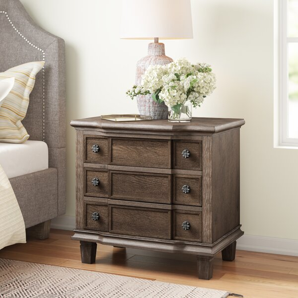 Lavada 3 Drawer Nightstand by Three Posts