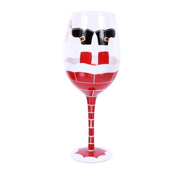 Dear Santa 18 Oz. Wine Glass by The Holiday Aisle