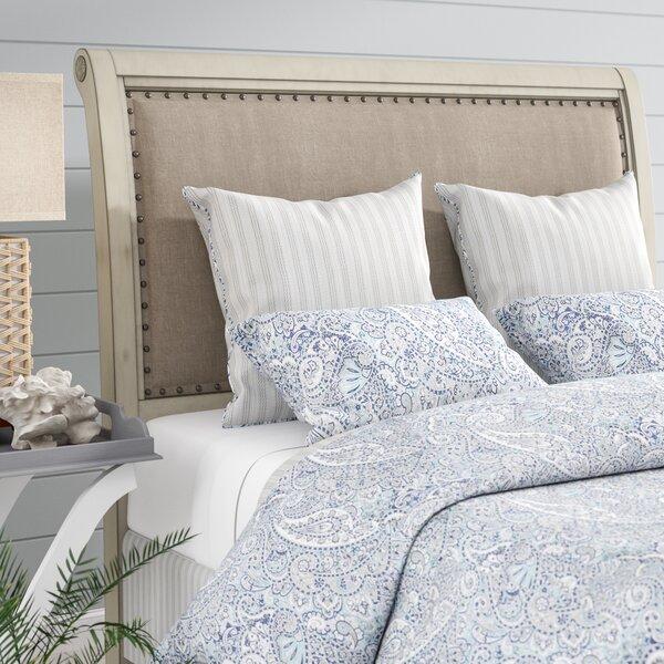 Waverley Upholstered Sleigh Headboard by Beachcrest Home