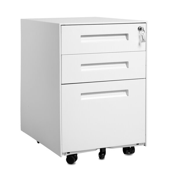 Akemi 3-Drawer Mobile Vertical Filing Cabinet
