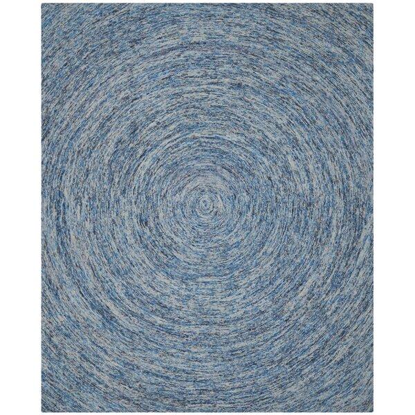 Ikat Dark Blue Area Rug by Safavieh