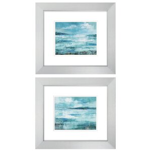 'Isle' 2 Piece Framed Painting Print Set by Highland Dunes