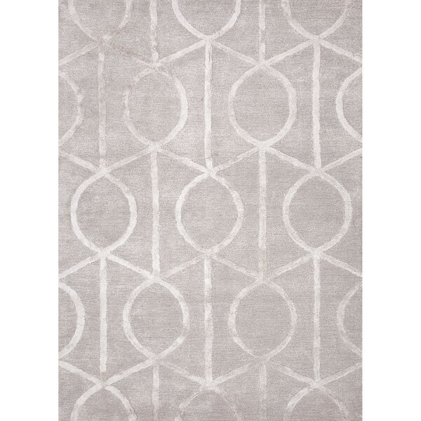 Arlene Hand-Tufted Taupe/Ivory Area Rug by Mercer41