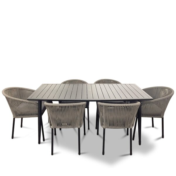 August Euart Outdoor 7 Piece Dining Set by Modern Rustic Interiors