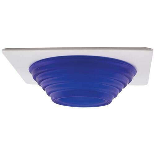 Frosted Stepped Glass 4 LED Recessed Trim by Elco Lighting