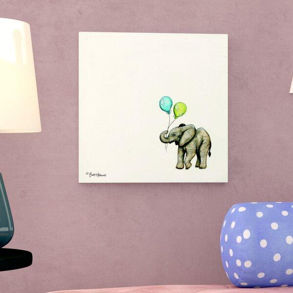 Nursery Elephant Canvas Art by Viv + Rae