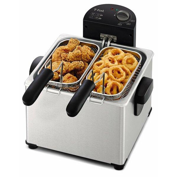 4 Liter Dual Basket Deep Fryer by T-fal