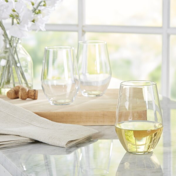 Edmondo 19 oz. Stemless Wine Glass (Set of 12) by Mint Pantry