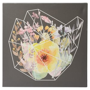 Words to Grow By Flowering Polygon by 5by5collective Painting Print on Wrapped Canvas by Mercury Row