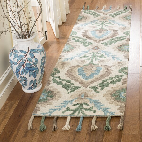Niederanven Hand Knotted Wool Brown/Green Area Rug by Bungalow Rose