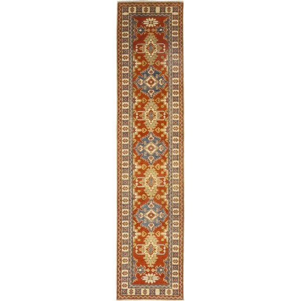One-of-a-Kind Little Nell Hand-Knotted Wool Red Indoor Area Rug by Canora Grey