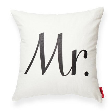 Expressive Mr Decorative Cotton Throw Pillow by Posh365