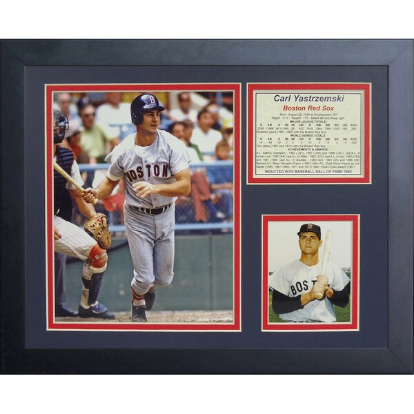 Carl Yastrzemski Framed Memorabilia by Legends Never Die