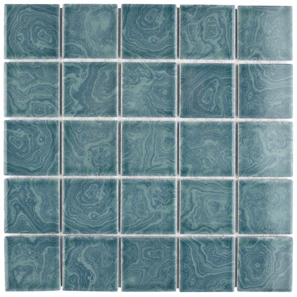 Utopia 2 x 2 Porcelain Mosaic Tile in Green by EliteTile