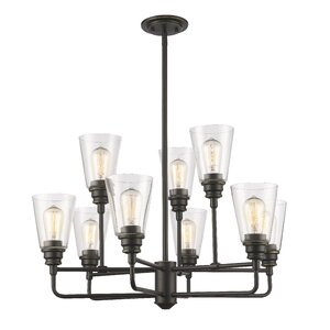 Clayton 9-Light Semi Flush Mount
