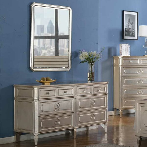 Brette 6 Drawer Double Dresser with Mirror by Willa Arlo Interiors
