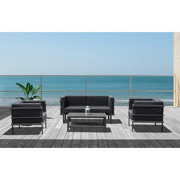 Macedonia 4 Piece Sofa Seating Group by Brayden Studio