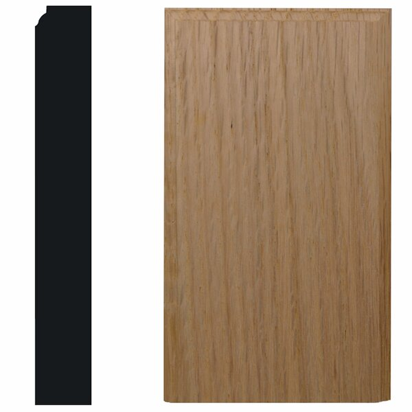 1-1/8 in. x 4-1/2 in. x 8 in. Oak Plinth Block Moulding by Manor House