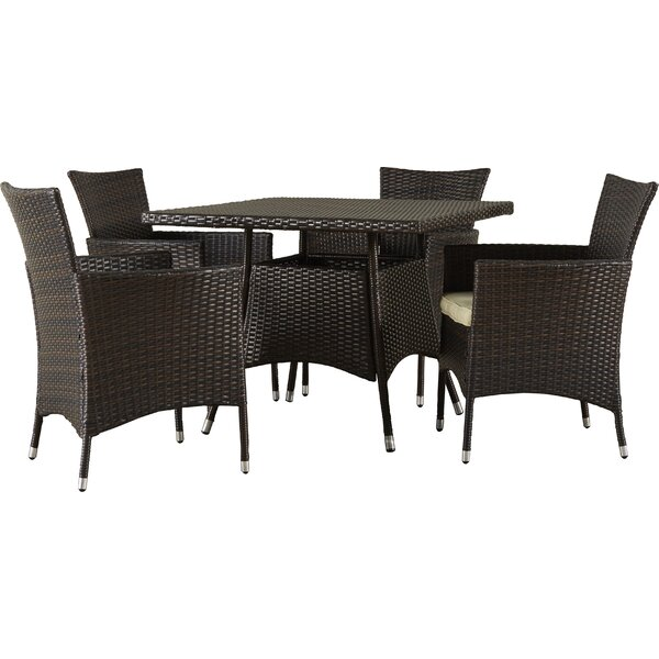 Rolle 5 Piece Dining Set with Cushions by Brayden Studio