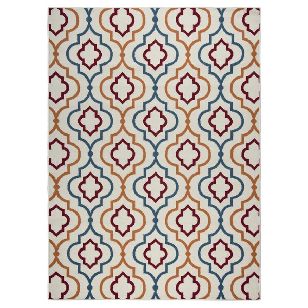 Lucia Blue/Orange Indoor/Outdoor Area Rug by Zipcode Design