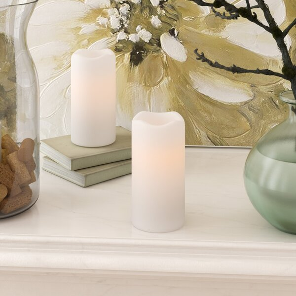 LED Scented Flameless Pillar Candle by Ophelia & Co.