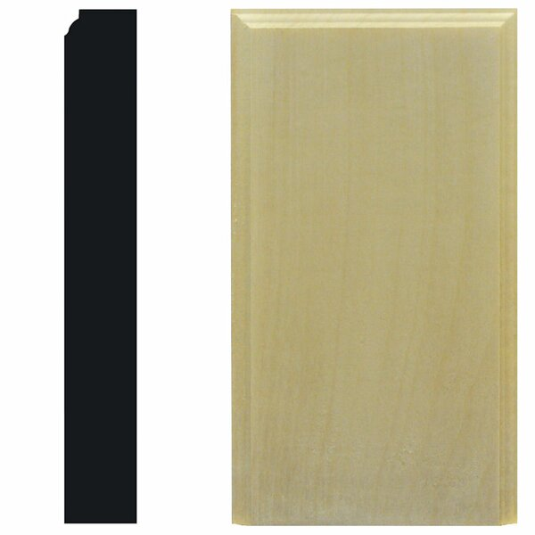 1-1/8 in. x 4-1/2 in. x 8 in. Hardwood Plinth Block Moulding by Manor House