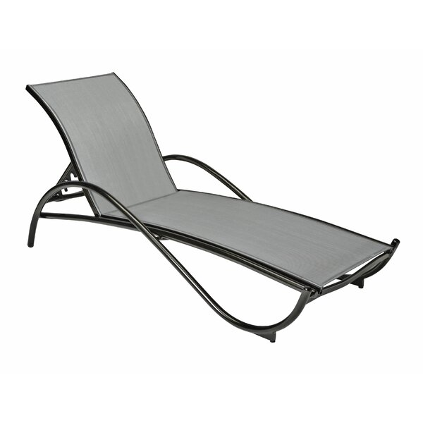 Tribeca Reclining Chaise Lounge by Woodard